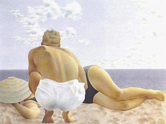 Ca s'est passé en août ! Couple+on+Beach+++1957