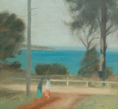 Seascape Painting by Clarice Beckett. The Road to the Sea, Beaumaris