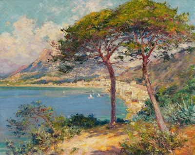 Seaside Painting by Pierre-Paul Emiot, 1933