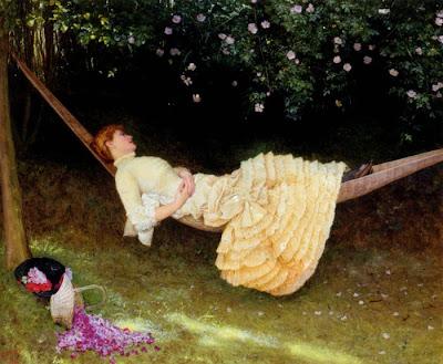 Hammock in  Painting Edward Killingworth Johnson