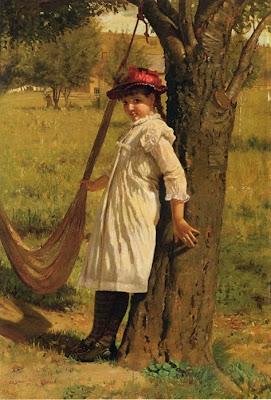 Hammock in  Painting John George Brown