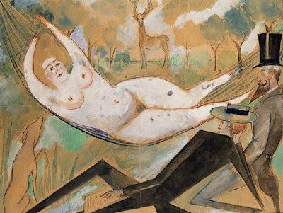 Hammock in  Painting Zygmunt Waliszewski