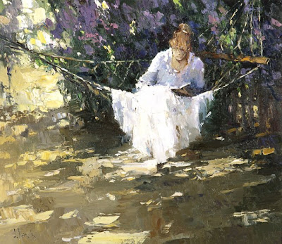 Hammock in  Painting Aleksey Zaitsev