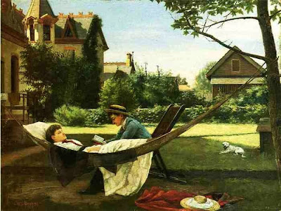 Hammock in  Painting William Verplanck Birney