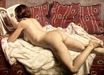 Nude Painting by French Impressionist Artist Rene Xavier Prinet