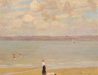 Seascape Painting by Emanuel Phillips Fox Australian Impressionist Artist