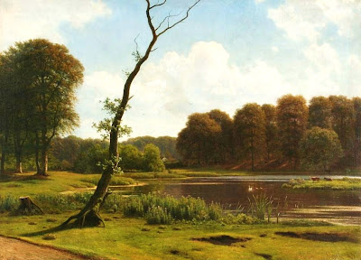 Scandinavian Summer Landscpe Painting Georg Emil Libert