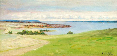 Scandinavian Summer Landscpe Painting Olof Hermelin