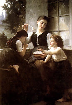 Elizabeth Jane Gardner Bouguereau American Artist Blowing Bubbles in Painting