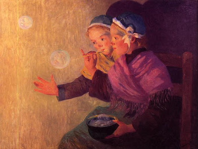 Blowing Bubbles in Painting Ferdinand du Puigaudeau