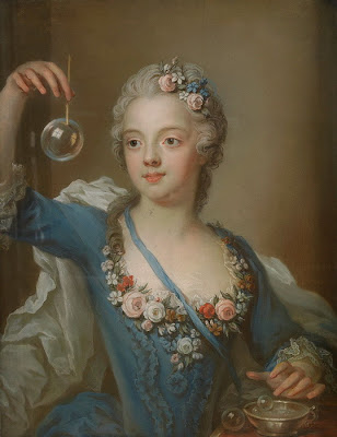 Blowing Bubbles in Painting Gustaf Lundberg Swedish Artist