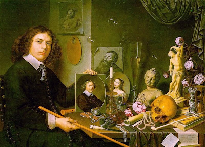 Bubble Painting in Vanitas David Bailly Self-Portrait with Vanitas Symbols