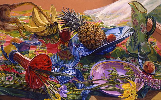 Still Life Painting by American Artist Janet Fish