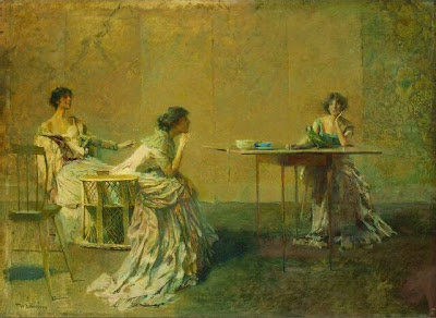 Women in Painting by Thomas Wilmer Dewing American Tonalist Artist