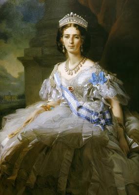 Fan in Painting Portrait of Yussupova by Friedrich Winterhalter