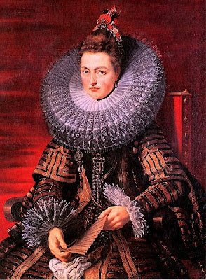 Fan in Painting Isabella Clara Eugenia, princess of Spain, by Rubens