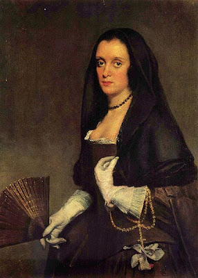 Fan in Painting Diego Velázquez Portrait of Lady with Fan