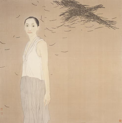 Women in Paintings by Hao Shiming Chinese Artist