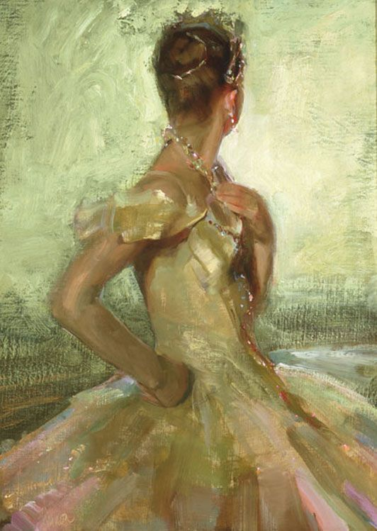 Woman in Painting by American Artist Johanna Harmon
