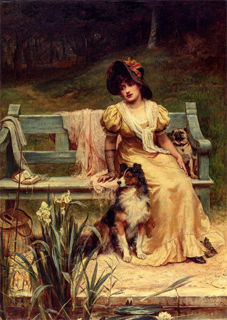 Oil Painting by English artist Frederick Morgan Where Could He Be?, 1886