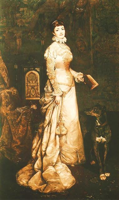 Painting by Polish Artist Tadeusz Ajdukiewicz Portrait of Helena Modrzejewska