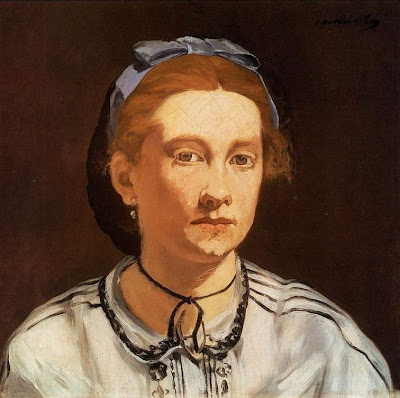 Portrait of Victorine Meurent, 1862 by Edouard Manet