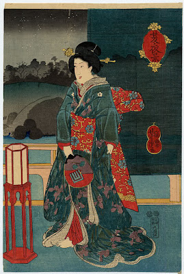 Yoshitora Utagawa Japanese Ukiyo-e Prints Ladies with Fan