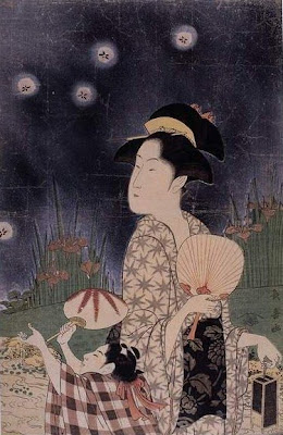 Choki Eishosai Japanese Ukiyo-e Prints Ladies with Fan