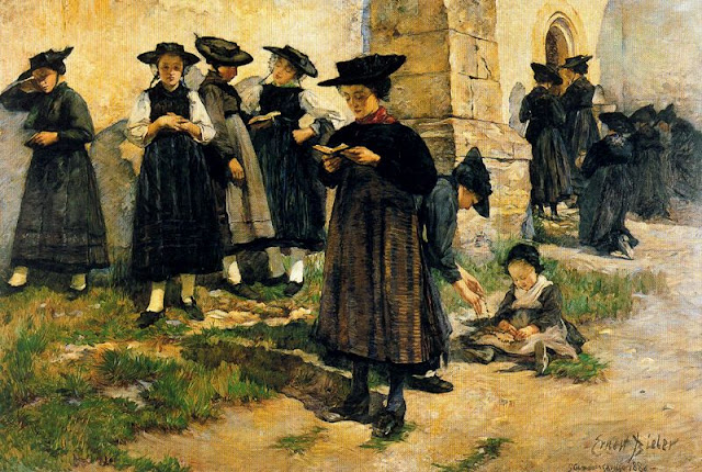 Painting by Ernest Bieler Swiss Painter