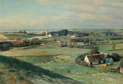 Landscape Painting by Peder Monsted Danish Artist