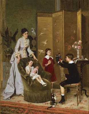 Children in Painting by Belgian Artist Albert Roosenboom