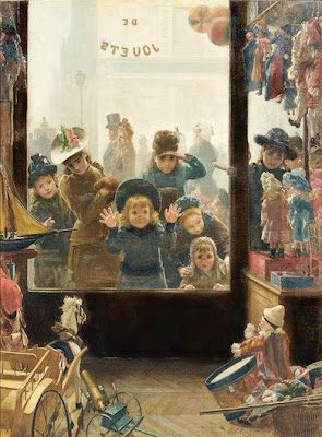 Children in Painting by Timoléon Marie Lobrichon
