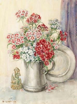 Still Life Watercolor by Scottish Artist Anna Katrina Zinkeisen