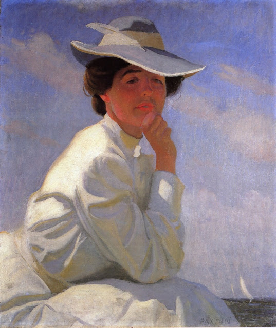 Portrait Painting by Impressionist Artist William McGregor Paxton