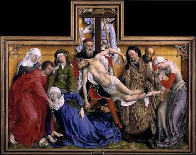 The Descent from the Cross by Belgian Renaissance Painter Rogier van der Weyden