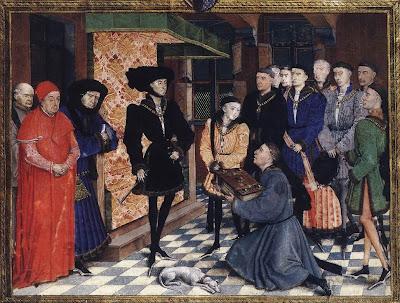 Miniature from the Chroniques de Hainaut, Belgian Renaissance Painter Rogier van der Weyden