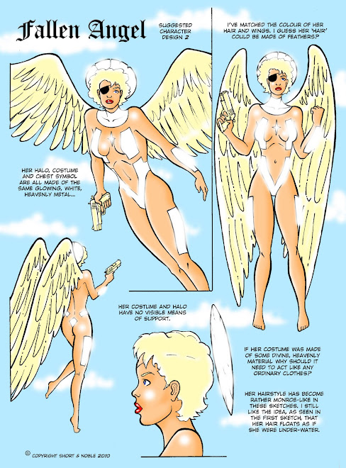 Fallen Angel comics, super heroines, sexy comics, gabby noble comic