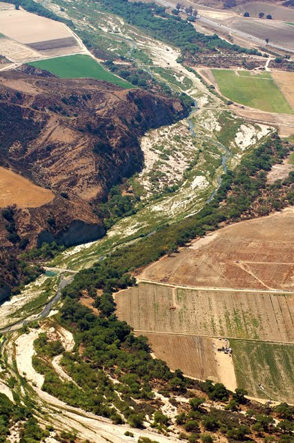 Santa Clara River, aerial view
