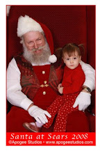 Lucy chills with Santa