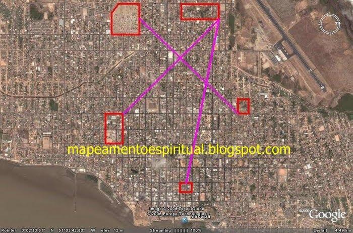 3- Macapá (AP) - Ligando os principais locais de adoração católicos. (igrejas e capelas)