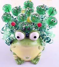 kurbağa lolipop