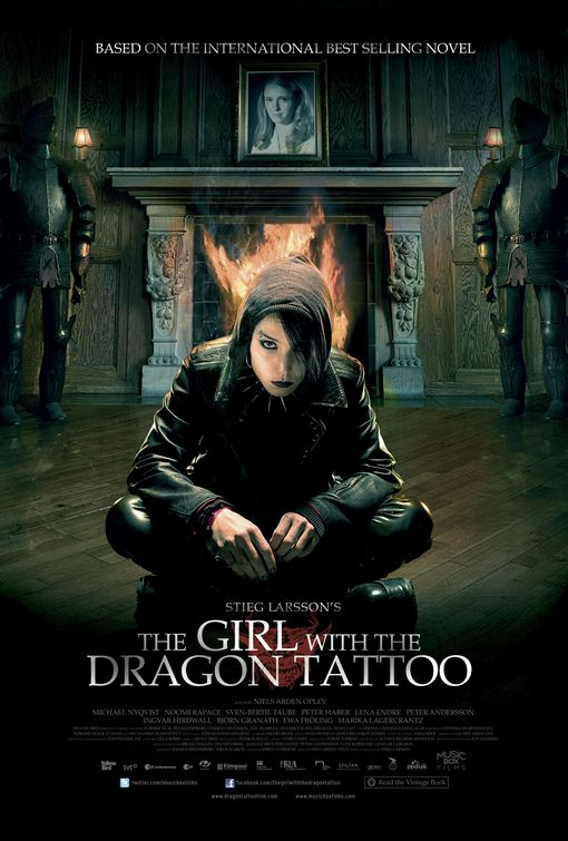 Jonny 39 s movee movie review the girl with the dragon for The girl with the dragon tattoo series order