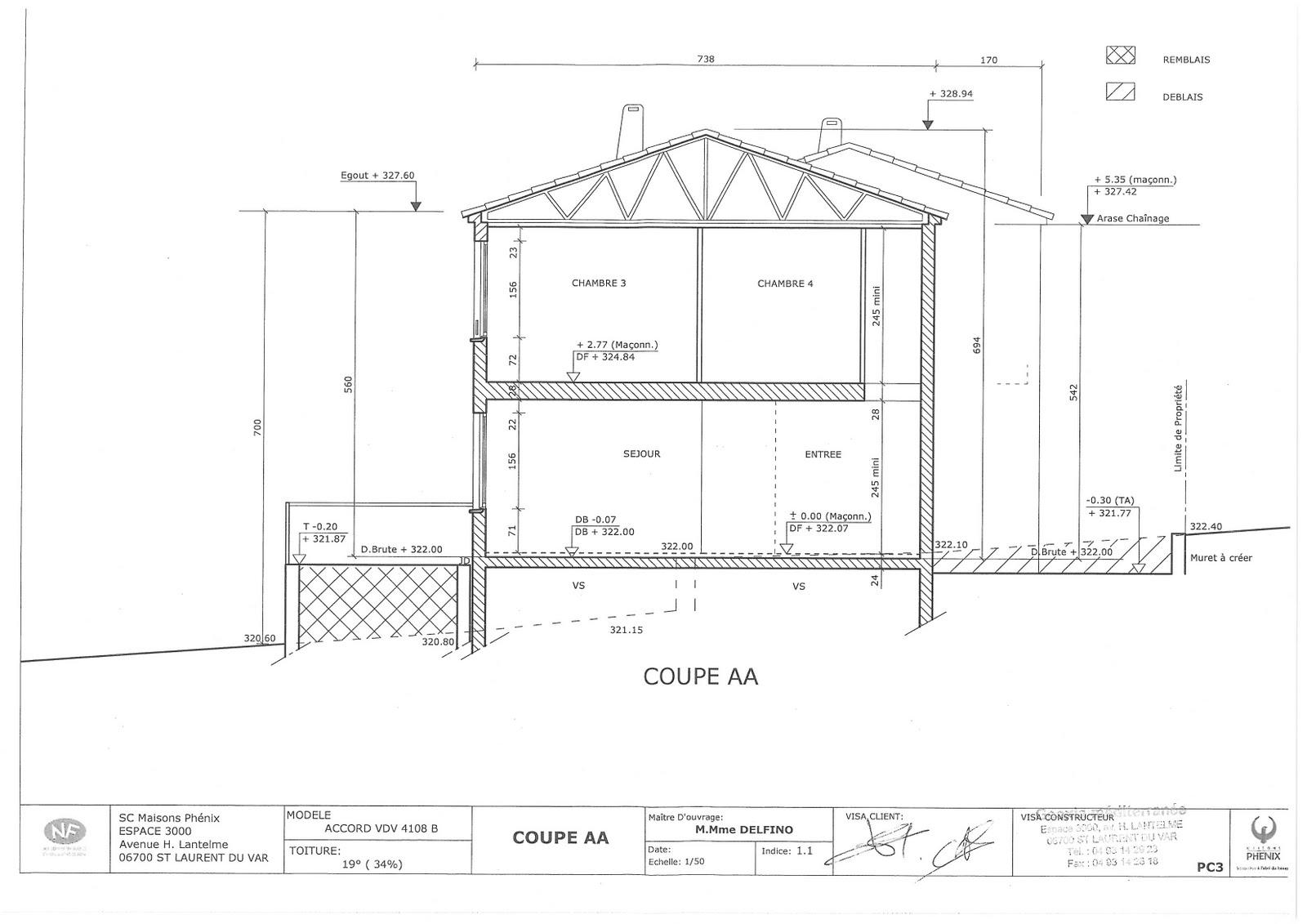 Olisev 39 s phenix house permis de construire d pos - Plan en coupe permis de construire ...