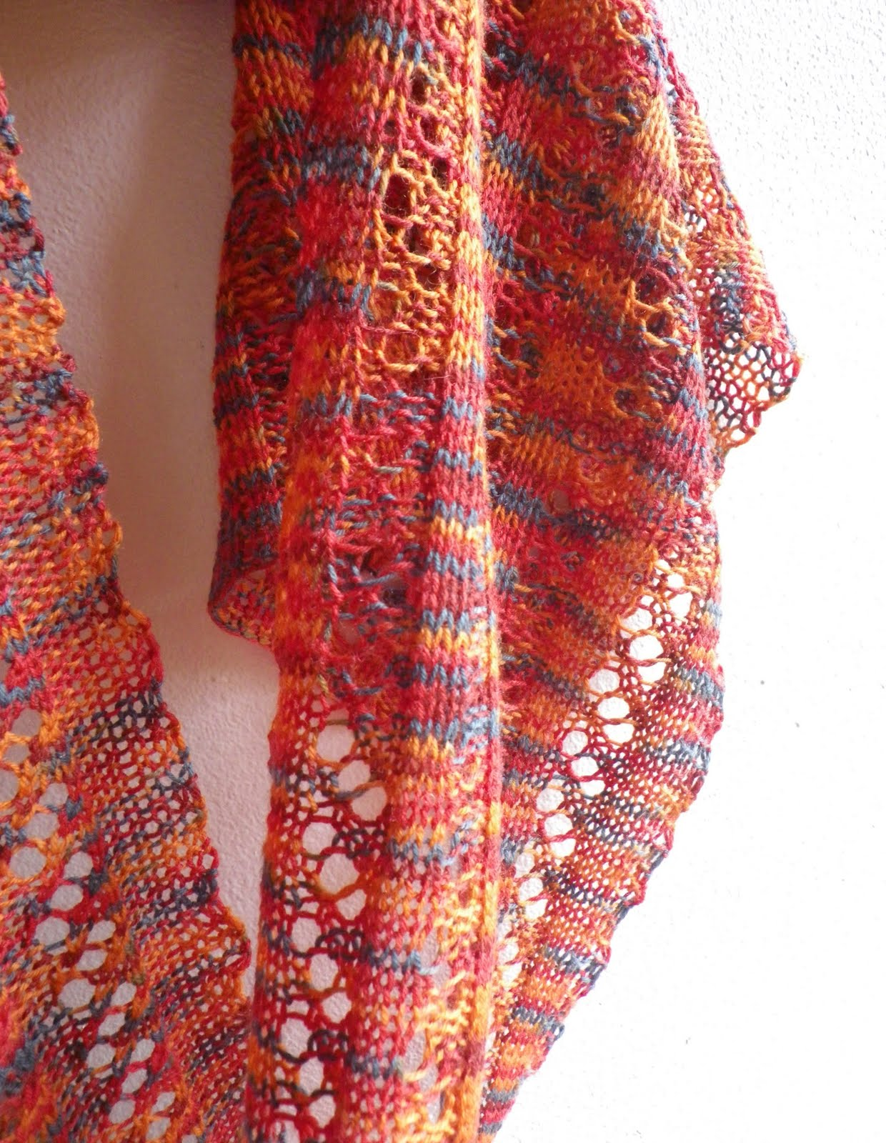 Virginia is for...: Finished: Waterfall Lace Scarf