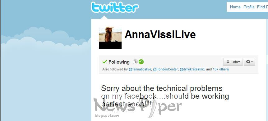 Anna apologised for Facebook problem Annavissi+problema