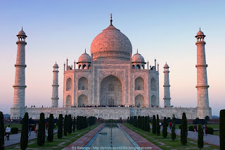 The Taj Mahal (1630 A.D.) Agra, India - New seven wonders of the world