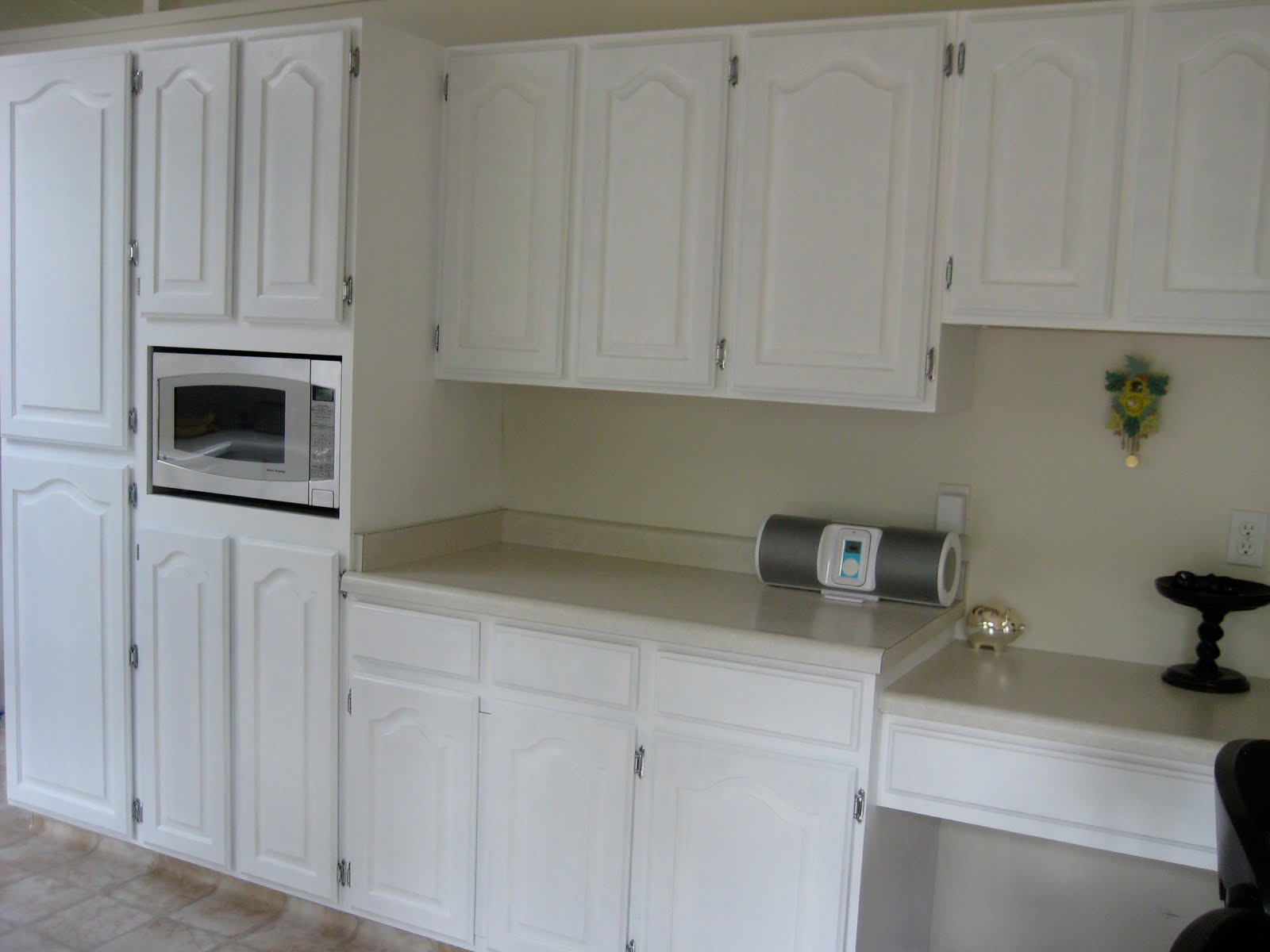 White Milk Paint Kitchen Cabinets