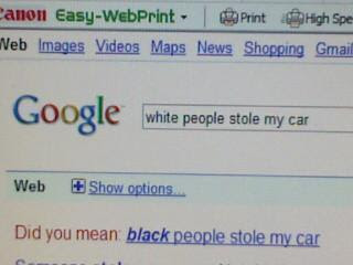google racist black people stole bike