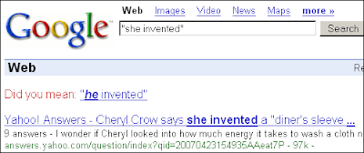 google she invented did you mean he