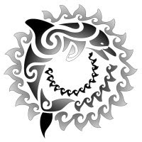 Beautiful Art of Maori Tattoos With Image Traditional Tribal Dolphin Maori Tattoo Design